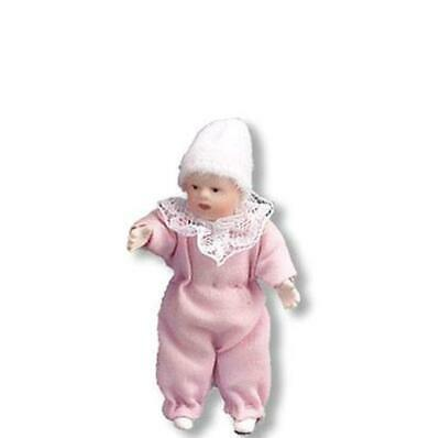 DOLLHOUSE Bisque Baby in Pink 1.780/4 Reutter Porcelain Toddler Posable Miniatur