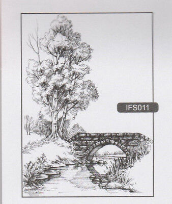 Nellie Snellen//Clear//Floral//Tree//Owl//Fence//Scene//UNMOUNTED//stamp//IFS008
