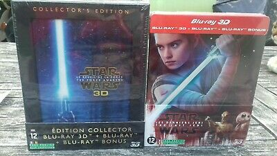 Lot 2 Blu Ray 3D STAR WARS * Édition collector + Steelbook * 6 disques