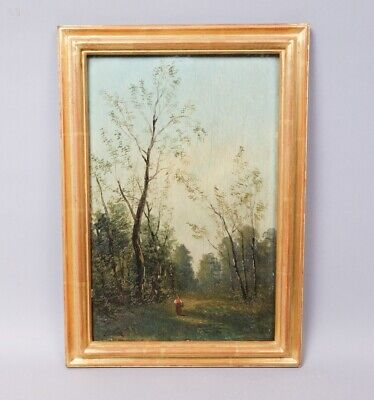 Estate Found c1900 Oil Painting on Board Signed Frank in Later Frame Gold Leaf