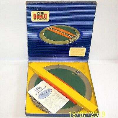 Vintage 1958 Hornby Dublo 3 Rail D1 Turntable 32180 In Excellent Condition Boxed