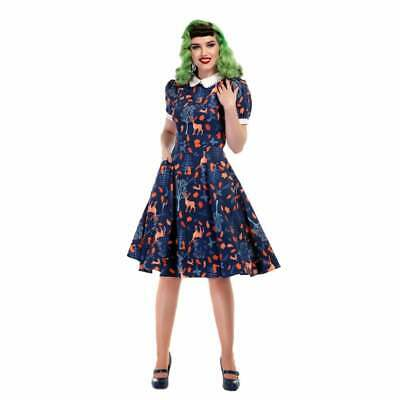 Collectif Vintage Peta Forest Friends Swing Dress