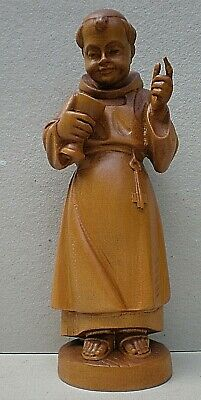 Vintage Black Forest Swiss Carving of A Monk
