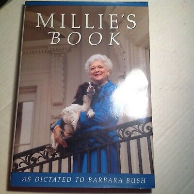 Millie's Book Signed by Barbara Bush Autographed Hardback 1st Ed First Lady Auto
