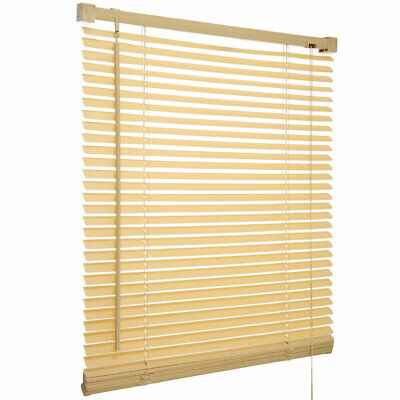 Easy Fit PVC Natural Wood Grain Effects Venetian Blind Drop 150cm Window Blinds