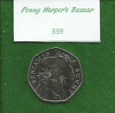 50p ~ 2017 ~ BEATRIX POTTER ~ BENJAMIN BUNNY ~ 339 ~ GREAT BRITISH COIN HUNT