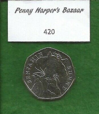 50p ~ 2017 ~ BEATRIX POTTER ~ BENJAMIN BUNNY ~ 420 ~ GREAT BRITISH COIN HUNT