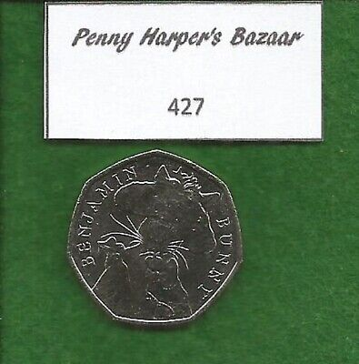 50p ~ 2017 ~ BEATRIX POTTER ~ BENJAMIN BUNNY ~ 427 ~ GREAT BRITISH COIN HUNT