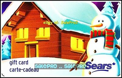 Sears Canadian Winter Day Snowman #6042 Fr/Eng Rare Collectible Gift Card