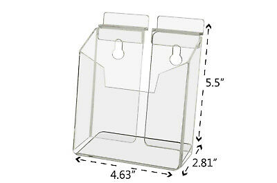 Post Card Holder Literature Display Rack Slatwall Vertical Clear Acrylic Qty 12