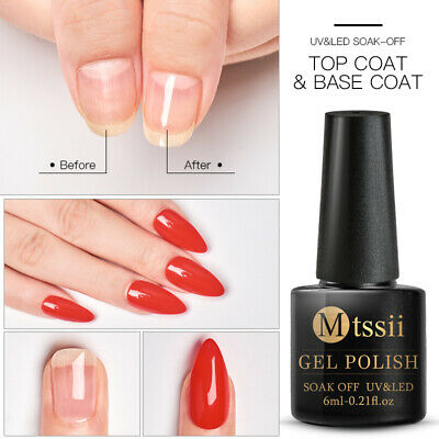 MTSSII UV&LED Soak-off Top Coat Base Coat Color Gel Nail Polish Varnish Manicure