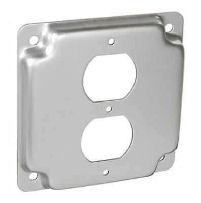 Emerson  503536 Metal Raised Surface Electrical Box Cover 1/pkg 2-Gang