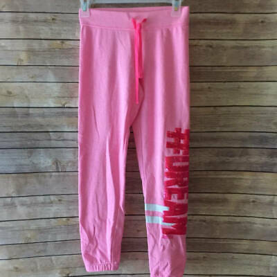 Justice Girls Joggers Sweatpants #DREAM Sequin Pink Size 10