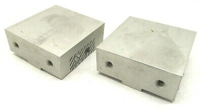 """Pair Of Chick 4"""" Qwik-Lok Cnc Workholding System Aluminum Milling Vise Jaws"""