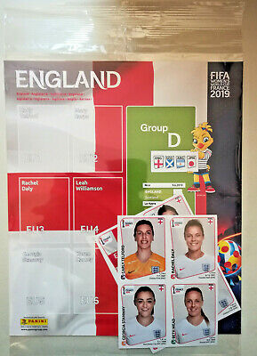 Panini Women's World cup 2019 ENGLAND UPDATE set & Page FIFA France 2019