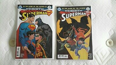 Superman #10 & 11 Vf/Nm 1St Print Dc Rebirth In The Name Of The Father Parts 1&2
