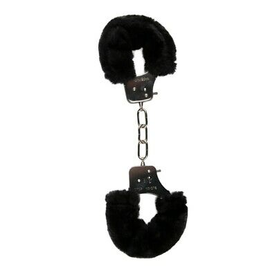 Manette Bondage In Pelliccia Sintetica Nero Di Easytoys Fetish Collection
