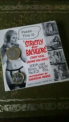 """""""Strictly for Bachelors"""", Cindy Neal, Adult/Glamour Std 8mm 200' B&W 1960s Boxed"""