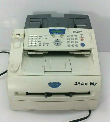 Brother Fax Machine Fax-2920 Powers On Good Condition IntelliFAX Copy Printer