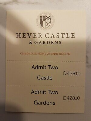 Hever Castle Tickets for 2 adults with £25 food voucher