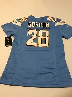 d6c4bb47 NIKE NFL YOUTH Los Angeles Chargers Melvin Gordon Jersey Medium NEW