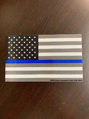 3M reflective thin blue line United States Flag law enforcement Support