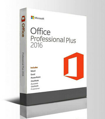 Microsoft Office 2016 Professional Plus Instant Delivery Genuine Key 32/64 Bit