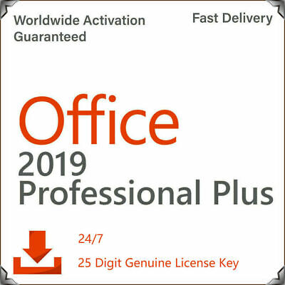 Microsoft Office 2019 Professional Plus Instant Delivery Genuine License Key