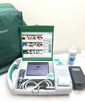 Bard Bardscan Ultrasound Bladder Scanner Urology *New Battery* Bag & Gel