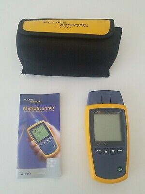 Fluke Networks MicroScanner2 Cable Tester Unit Only NEW Open Box MINT Tested