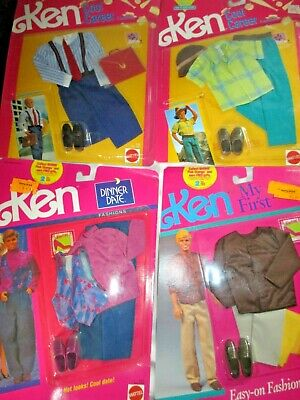 4 New Ken Doll Clothes Outfits 2/1990 Cool Career  1991/Dinner Date & My First