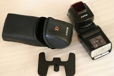 Sony HVL-F58AM Shoe Mount Flash with nylon case and flash stand