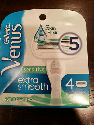 Gillette Venus 4-Pack *Sensitive* 5 Blade Extra Smooth Refill Cartridges