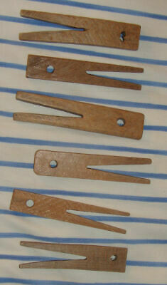Antique Wood Clothespins Clothes Pin Peg Wooden Hand Made Vintage Old American