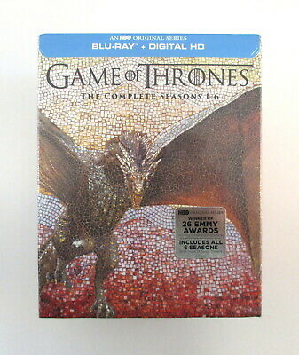 GAME OF THRONES Complete Seasons 1-6 Blu-ray Box Set 27 Discs HBO 2016