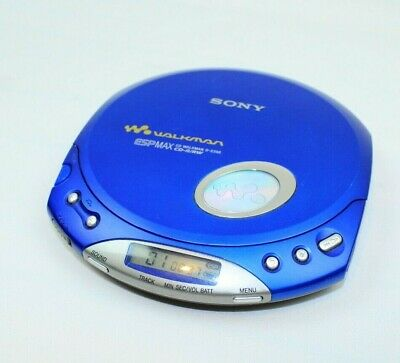 Sony D-E350 CD Walkman Player Discman CD R/RW ESPMAX Blue Tested Working