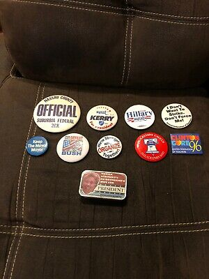 Lot of assorted political buttons campaign buttons Presidential and Asstd