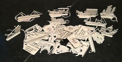 Nabisco Premium ~ Parade of Transportation Figures ~ White ~ Lot of 20 ~ 1950s