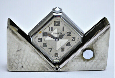 Vintage Gruen Carre Art Deco Watch--Purse, Pocket, Travel. C1931. Spring Loaded.