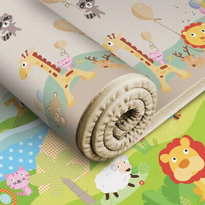 200x180x1cm Extra Large & Thick Baby Play Mat Non-Toxic Thick Folding Playmat.