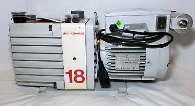 Fully Tested Edwards E1M18 Rotary Vane Vacuum Pump, 208 Volts - A34324904