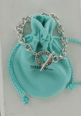 Tiffany & Co Silver New York Toggle Round Chain Bracelet 7.5in /20.2gr
