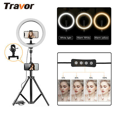 TRAVPR 12inch Dimmable 5500K LED Video Ring Lighting For Photo With Tripod AU