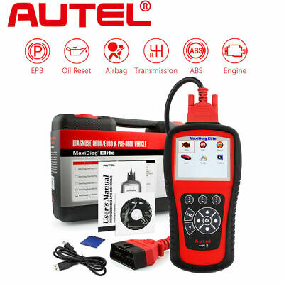 Genuine AUTEL MD802 MaxiDiag Elite ALL SYSTEM Auto Car OBD2 Diagnostic Scan Tool