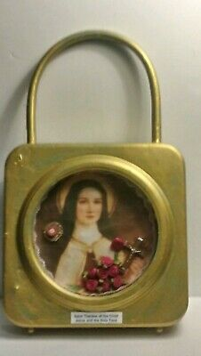 Saint Therese Of The Child Jesus & The Holy Face Relic Display Case Glass Front