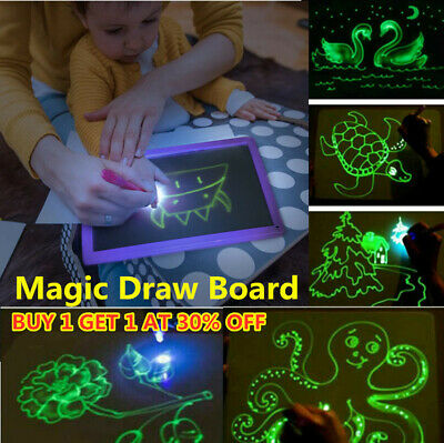 HOT Draw With Light Fun And Developing Toy Drawing Board Magic Draw Educational