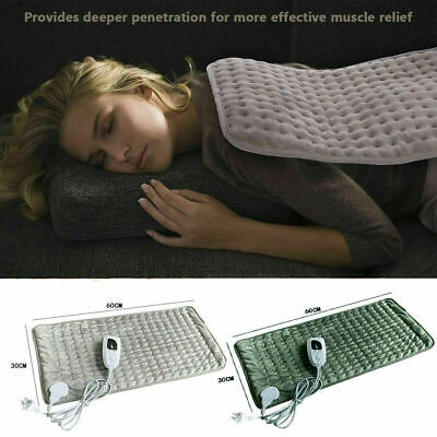 Electric Heating Pad Heat Therapy Fast Body Neck Shoulder Pain Relief Auto Off e