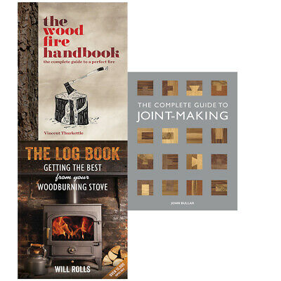 The Wood Fire Handbook,Complete Guide to Joint-Making 3 Books Collection Set NEW