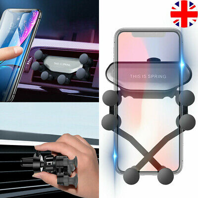 Universal Auto-Grip Car Phone Holder Gravity Air Vent Mount For Mobile Phone UK