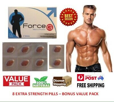FORCE G Premature Ejaculation Delay 8x Pills Longer Lasting Sex + 8x Bonus